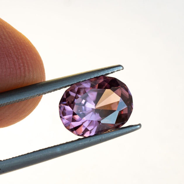 natural, unheated zircon has great sparkle and is completely eye clean.
