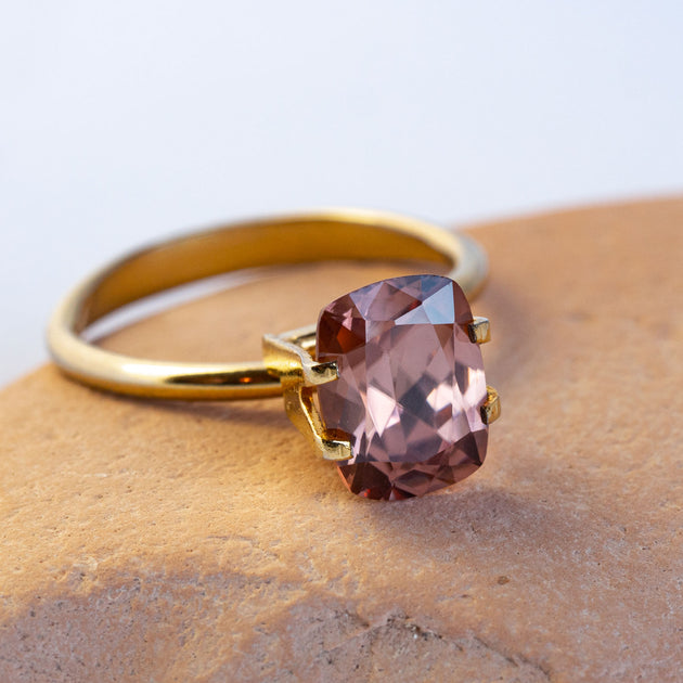 This gorgeous natural, unheated zircon is a lovely warm earthy pink and totally eye and loupe clean