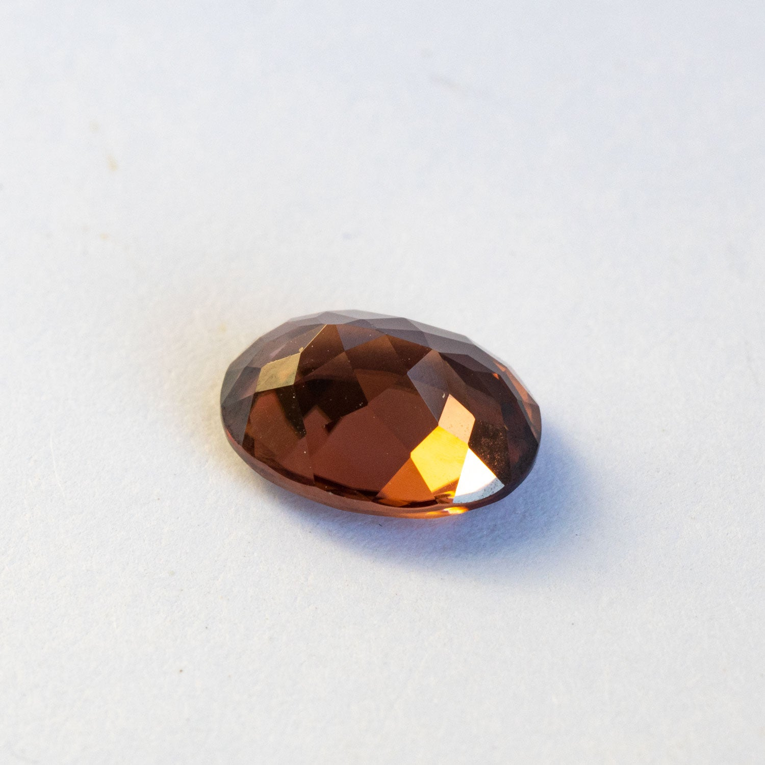 This earthy toned natural zircon is totally eye and loupe clean