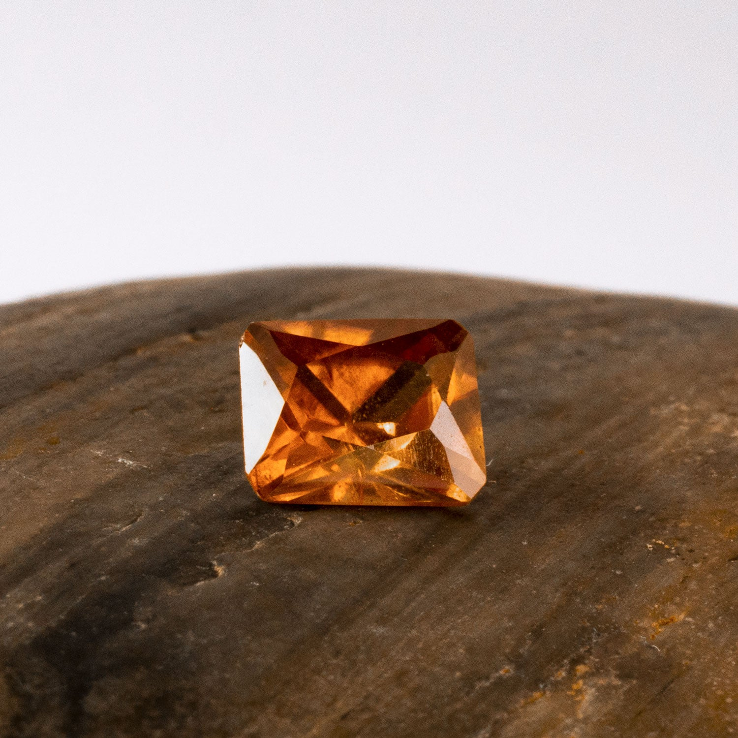 This sparkling natural zircon is a lively piece and eye clean with just a slight silkiness to the naked eye. This piece is unheated and was responsibly sourced from Madagascar.