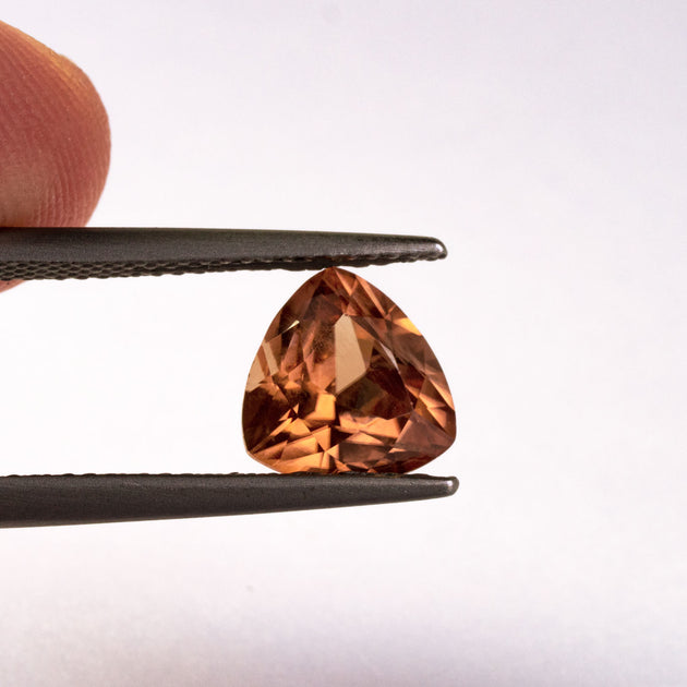 This light orange zircon has a hint of peach to its tone and is both eye and loupe clean. This piece is unheated and was responsibly sourced from Madagascar.