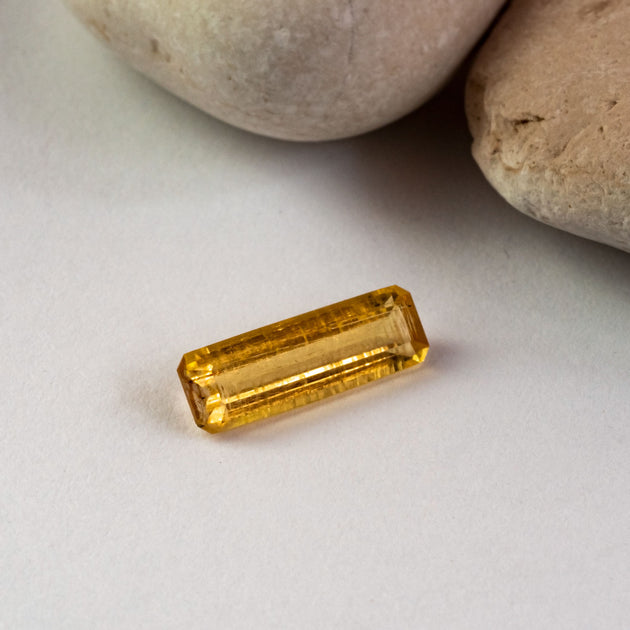 This richly coloured golden heliodor was sourced in the rough from a small coastal, responsible mine in Madagscar