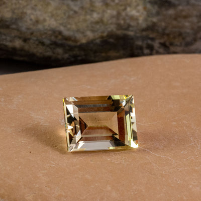 1.71ct Yellow Heliodor Baguette Cut