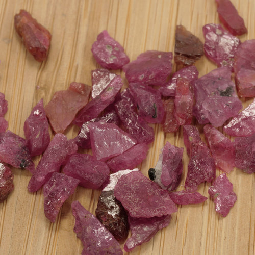 10ct Unheated Capstone Ruby Rough Parcels