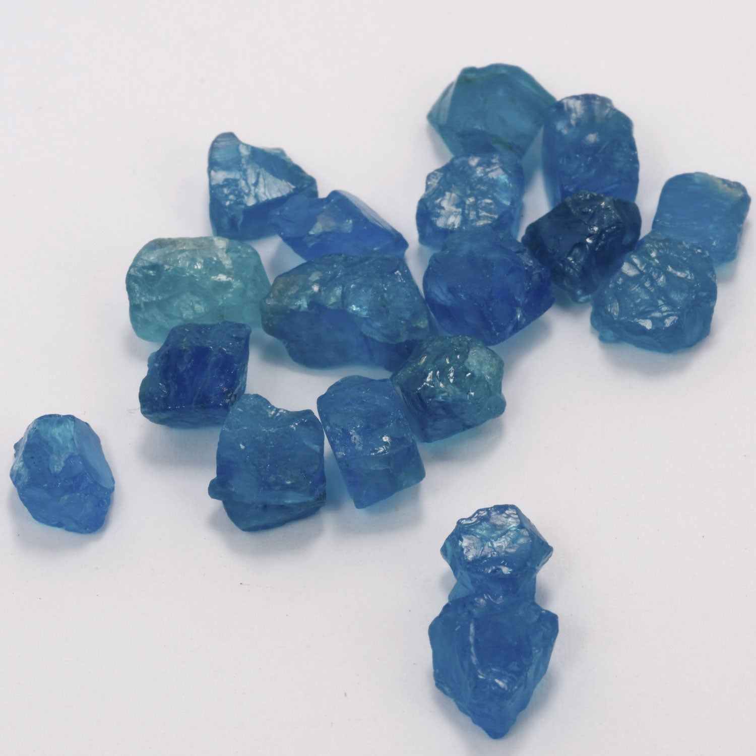 10ct Neon Apatite Rough Parcels