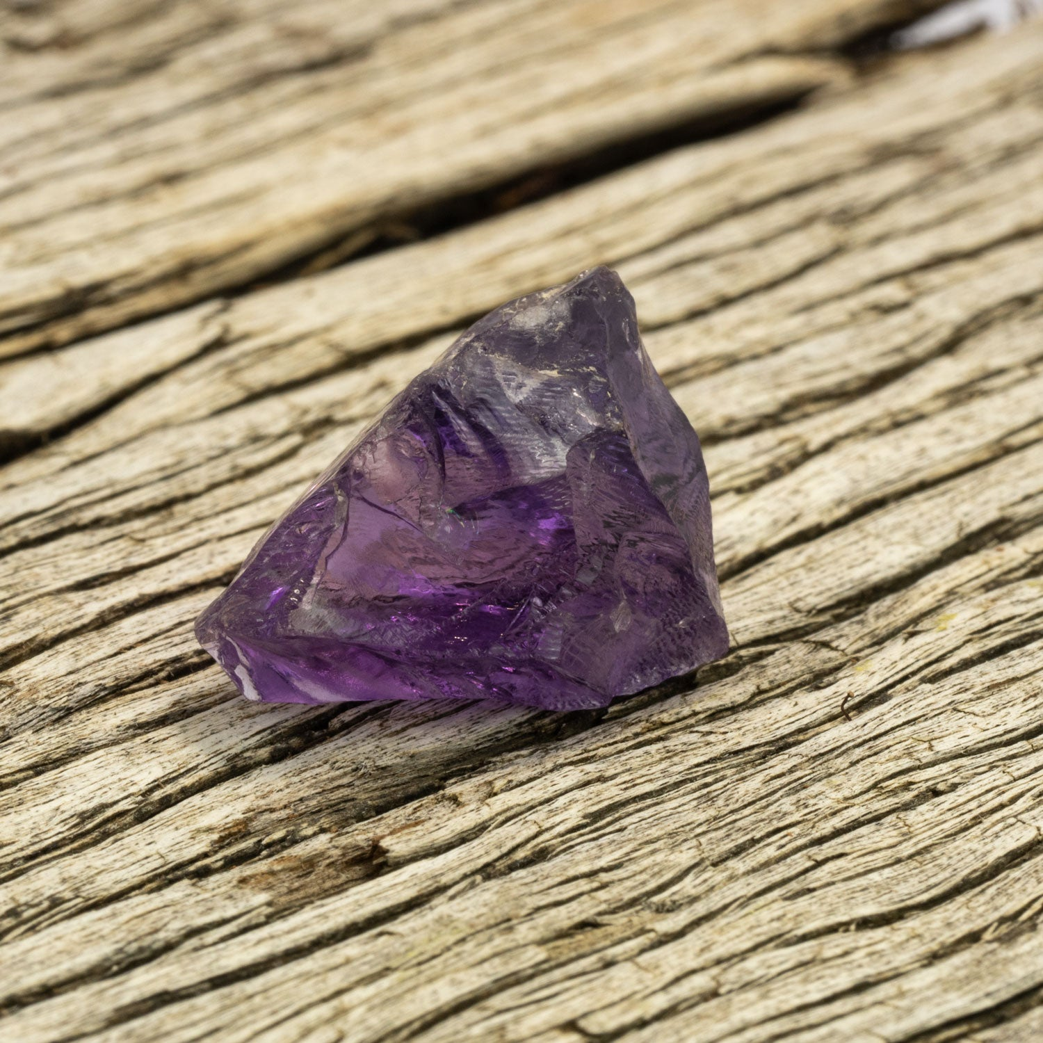 35.6ct Amethyst Rough in Facet Grade