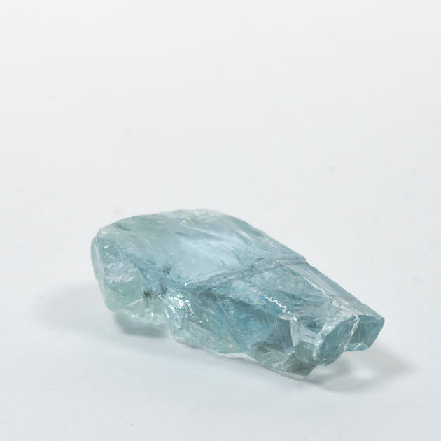 20.15ct Aquamarine Rough With Biotite Banding