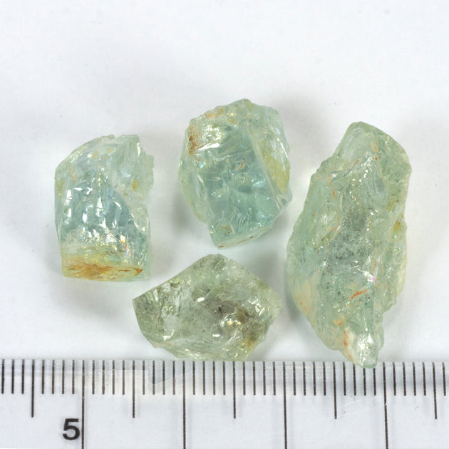 50ct Light Green Blue Aquamarine Rough Parcel