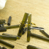 Green Tourmaline Rod Crystals