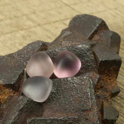 3.48ct Natural Burmese Spinel Water Worn Pebble Set