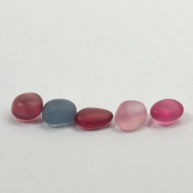 2.76ct TW Natural Burmese Multicolour Spinel Water Worn Pebble Set
