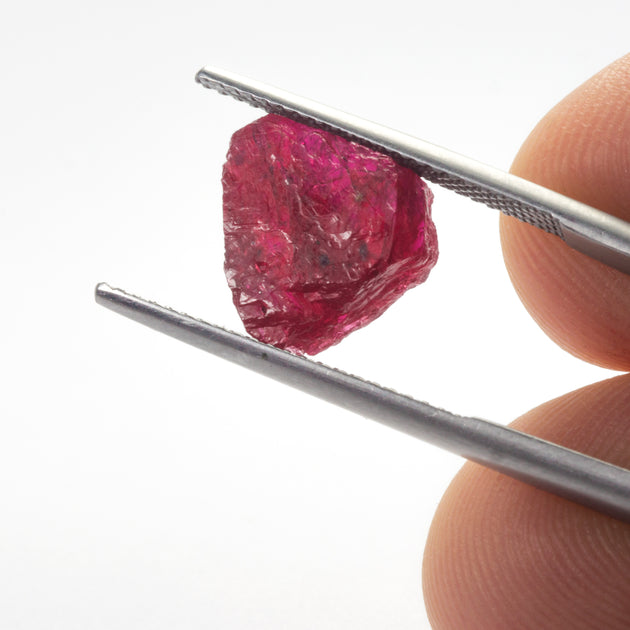 6.01ct Unheated Rough Ruby, , mozambique ruby, responsible sourced gemstones, ruby shard for jewellery design, ruby birthstone for july