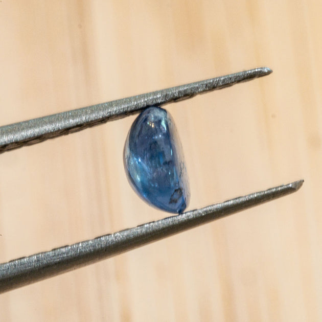 .85ct Oval Blue Sapphire Cabochon, loose sapphire in cabochon cut