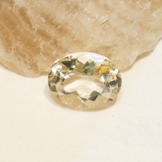 3.13 Golden Labradorite Oval Cut, oval faceted gemstone over 3ct