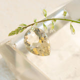1.36ct Golden Labradorite Pear Cut, Faceted Pear cut gemstone, responsibly sourced