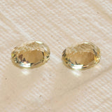 3.04ct Golden Labradorite Oval Pair, oval faceted loose gemstone