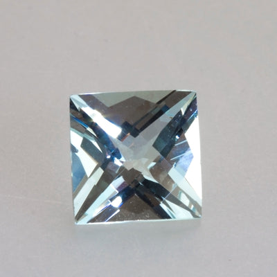 7.05ct Square Checkeboard Cut Aquamarine