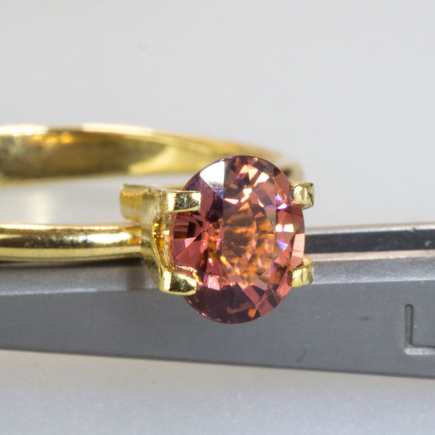 0.97ct Oval Cut Dark Peach Tourmaline