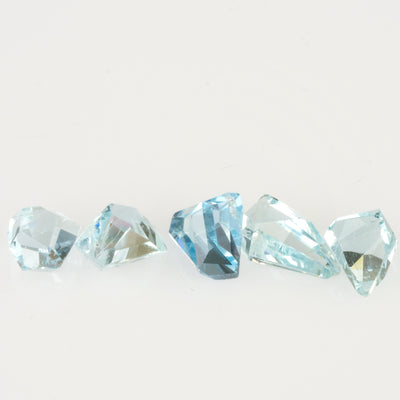 9.60ct Geo Cut Aquamarine Parcel