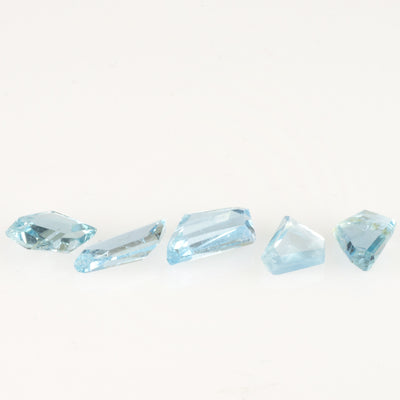 10.76ct Geo Cut Aquamarine Parcel