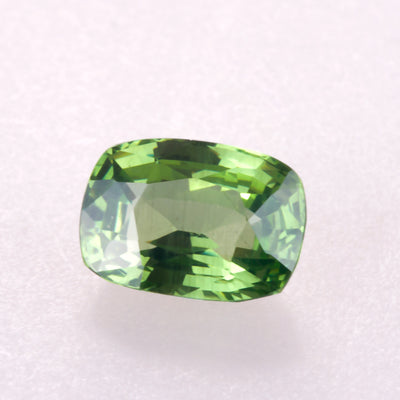 3.06ct Rectangular Cushion Cut Natural Green Zircon