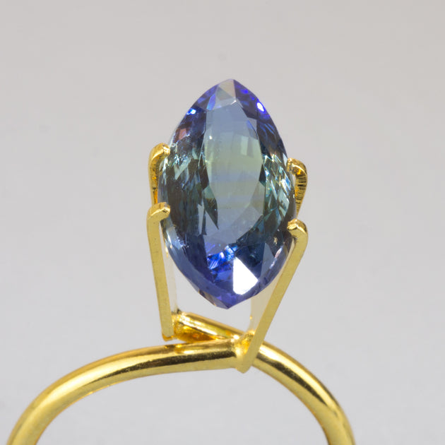Unheated 4.76ct Marquise Cut Bi-Colour Tanzanite