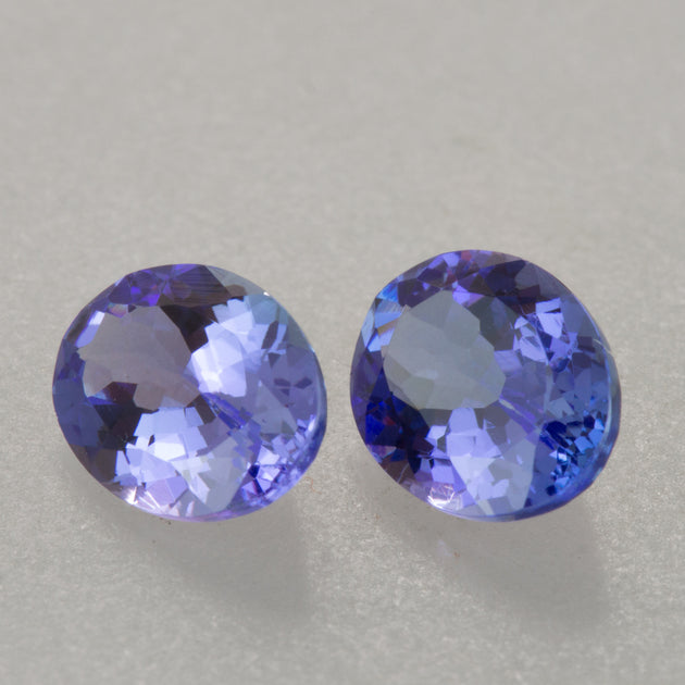 2.33ct TW 8x6mm Oval Cut Matched Tanzanite Pair