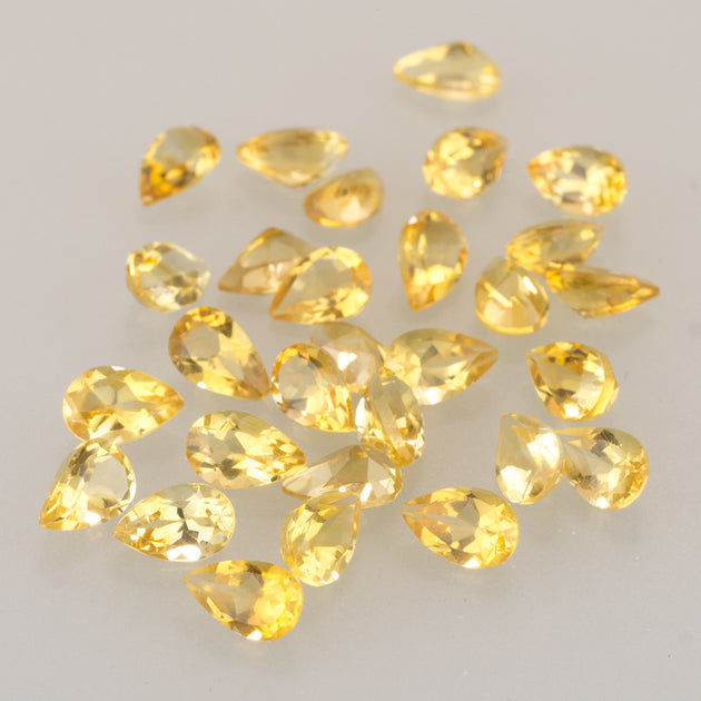 8x5mm Citrine Calibrated Pear Cut