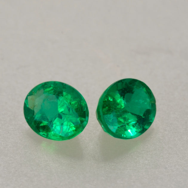 1.50ct TW 7x5 Oval Cut Zambian Emerald Pair