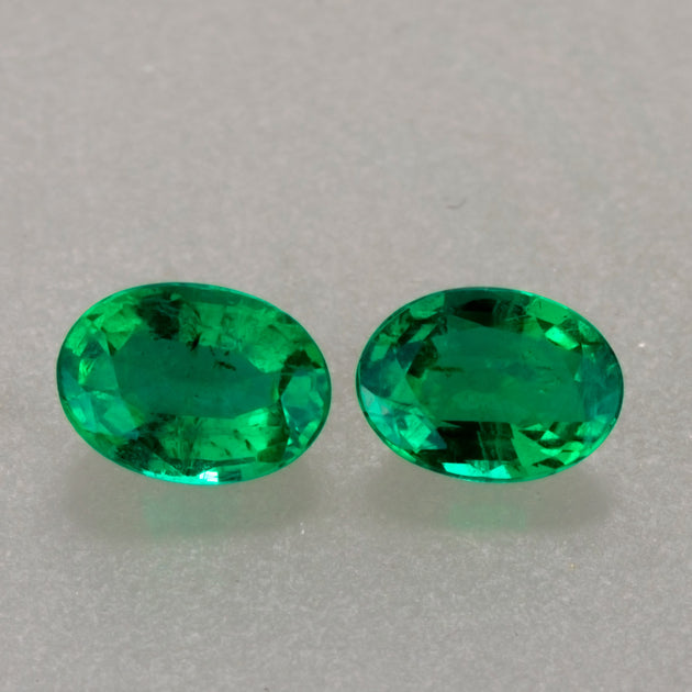1.56ct Oval Cut Zambian Emerald Pair
