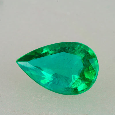 1.35ct Pear Cut Zambian Emerald