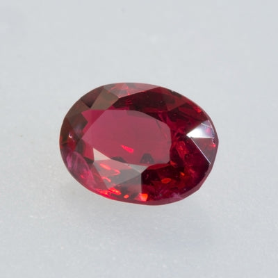 0.88ct Red Oval Cut Spinel