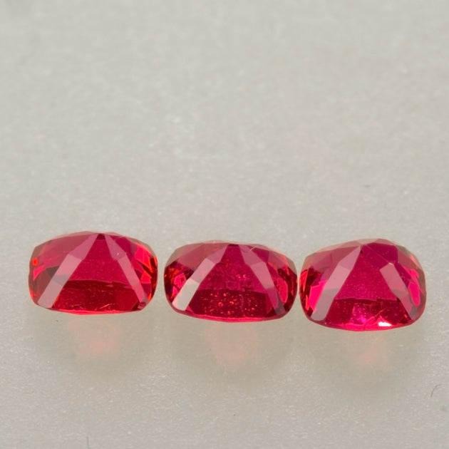 "1.04ct TW Red Cushion Cut ""Jedi"" Spinel Set"
