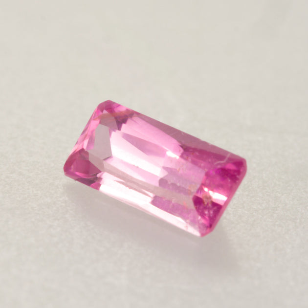 Unheated 1.19ct Emerald Cut Pink Sapphire
