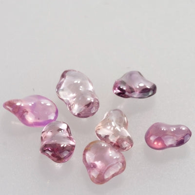 Unheated 4.74ct Free-form Hand Polished Pink Sapphire Parcel