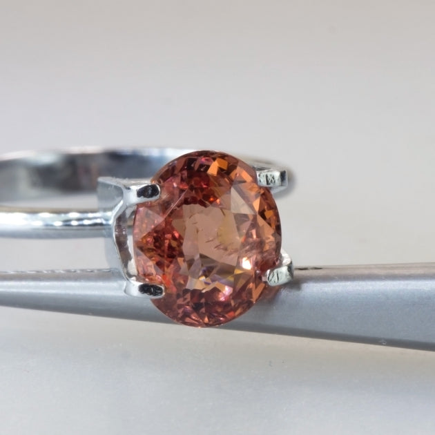 Unheated 2.42ct Oval Cut Orange Sapphire