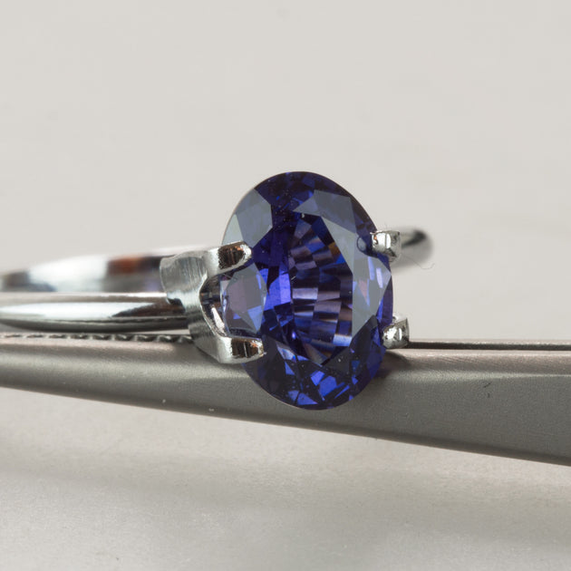 Colour Change 1.92ct Oval Cut Blue Sapphire