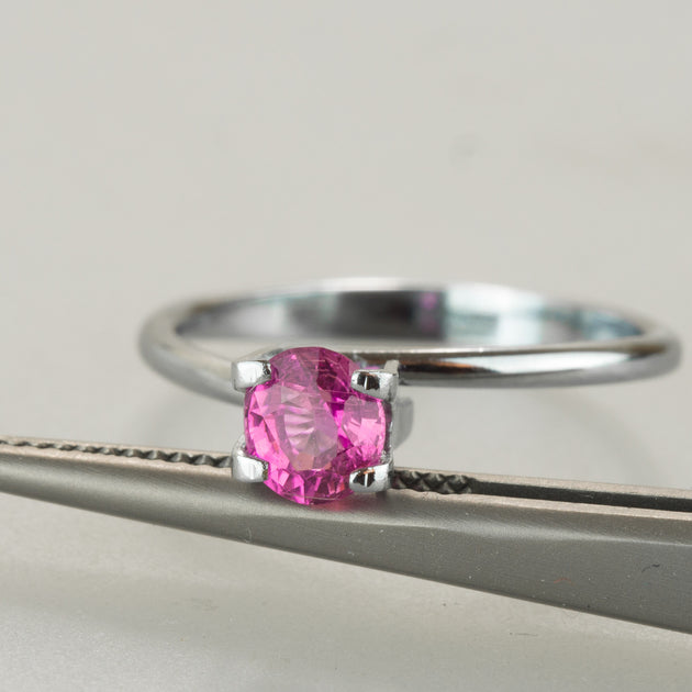 0.76ct Intense Pink Sapphire Oval