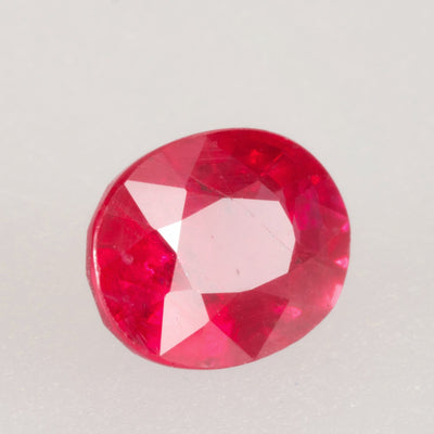 1.53ct Burmese Oval Ruby, ruby birthstone for July, Burmese ruby, rich red saturation ruby