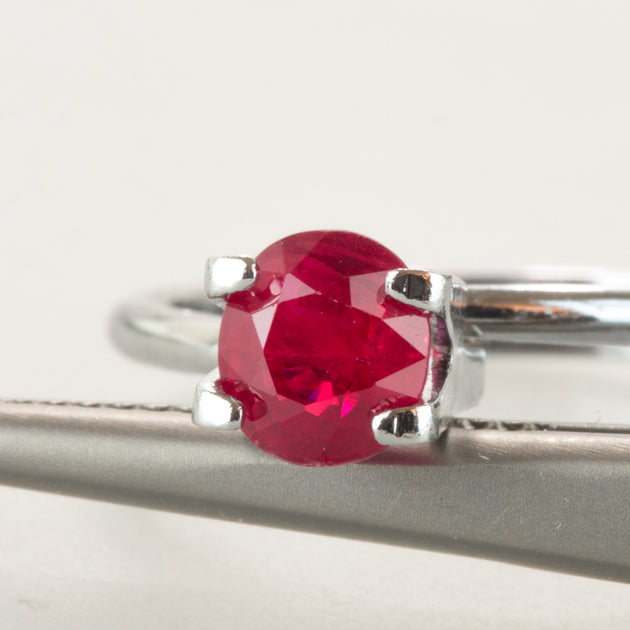1.08ct Oval Cut Ruby, natural unheated ruby, ruby birthstone for July, Mozambique ruby