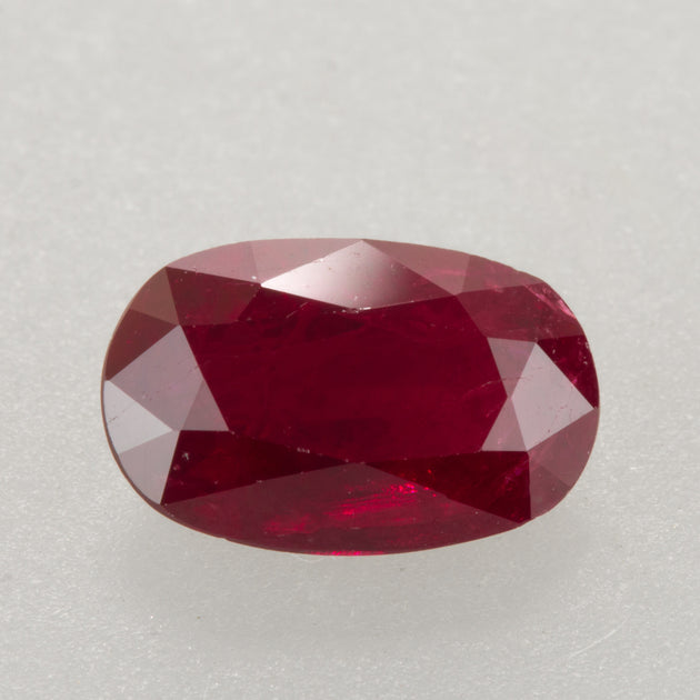 1.50ct Oval Cut Ruby,  ruby birthstone for July, Mozambique ruby, rich deep red ruby