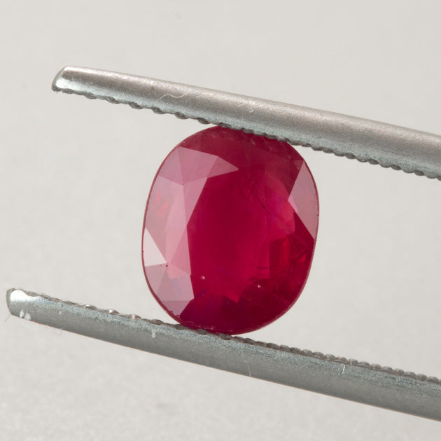 1.77ct Oval Cut Ruby, ruby birthstone for July, Mozambique ruby, rich deep red ruby