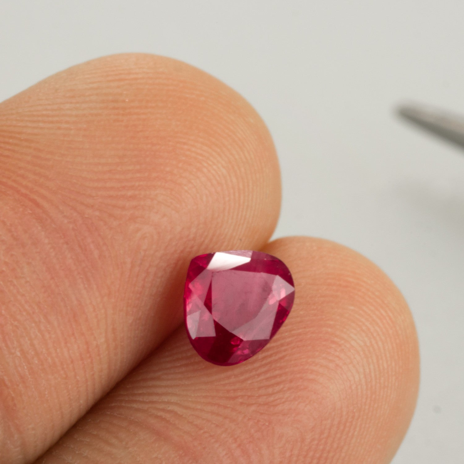 1.20ct Ruby Pear Cut, natural unheated ruby, ruby birthstone for July, Mozambique ruby
