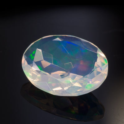 1.22ct Oval Cut Ethiopian Crystal Opal