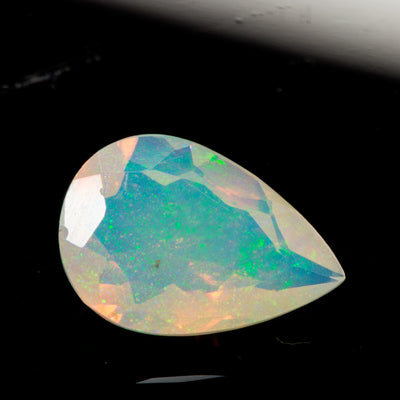 1.04ct Pear Cut Faceted Ethiopian Opal