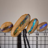 "4pc Set Of Opals on ""Dop Sticks"""