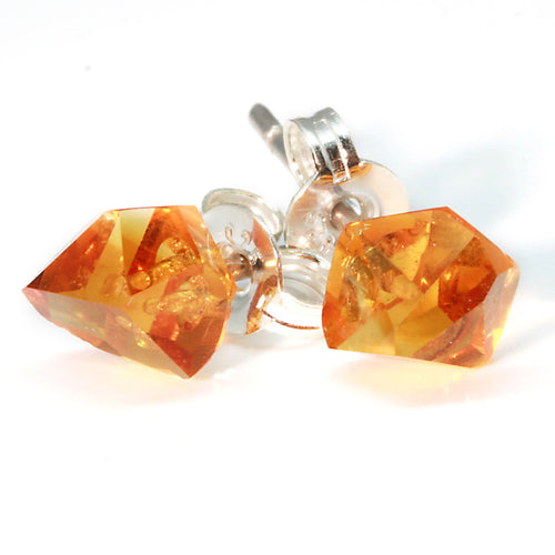 "Citrene ""Geo-Cut"" Stud Earring"