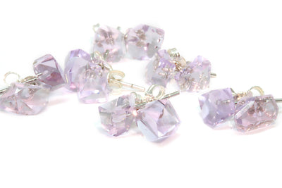 "Amethyst ""Geo-Cut""Earrings"