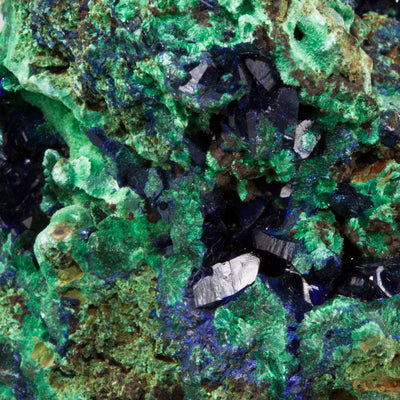Azurite and Malachite Crystal Specimen