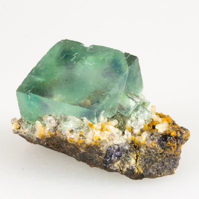 Fluorite Cube on Matrix Specimen